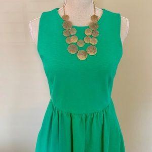 J. Crew Dresses - J.Crew Sleeveless Jersey Dress [w/pockets], Green